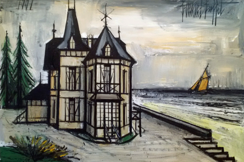Bernard Buffet. Villa in Normandy