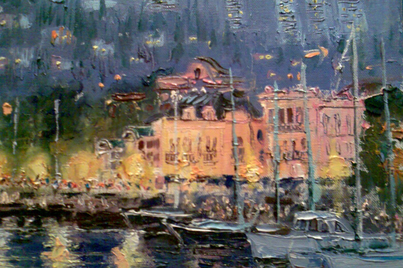 Alexey Hiba. Evening in the port