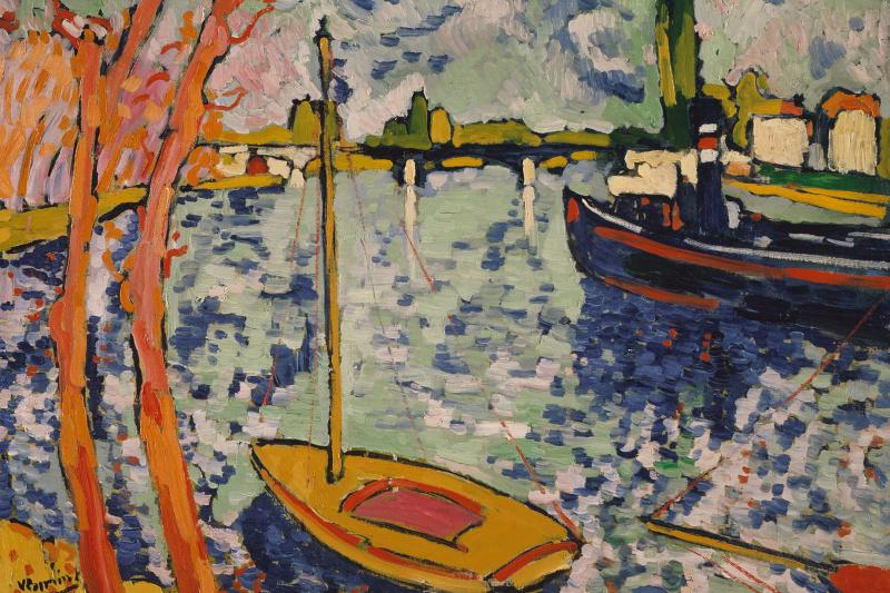 Maurice de Vlaminck. The Seine river in Chatou