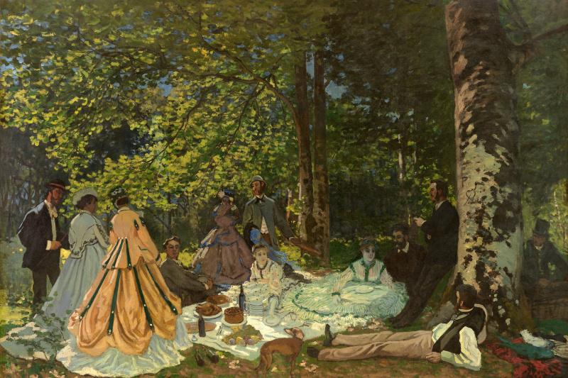 Claude Monet. Luncheon on the Grass