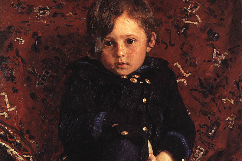 Илья Ефимович Репин. Портрет Ю.И. Репина, сына художника, в детстве