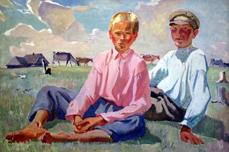 Alexander Alexandrovich Deineka. Vacationers children