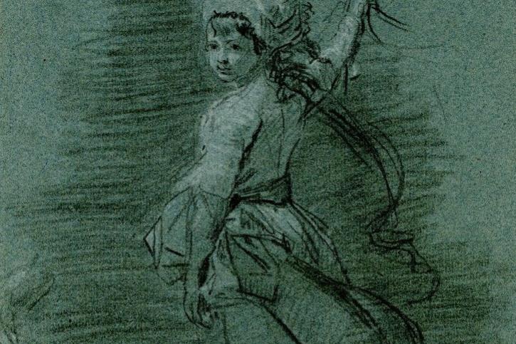 John Singleton Copley. Sketch for a portrait of a girl