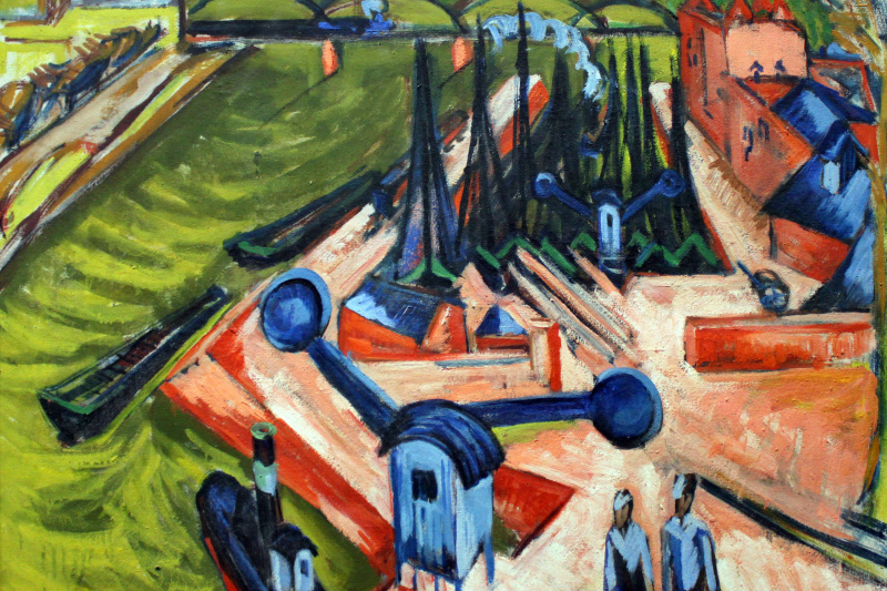 Ernst Ludwig Kirchner. The West harbour in Frankfurt am main