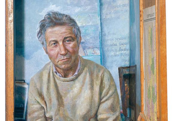 Igor Glebovich Makarevich. Wardrobe Ilya (Portrait Kabakov). The right part of the three-part composition