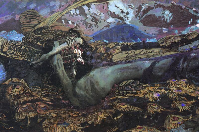Mikhail Vrubel. The Demon Downcast