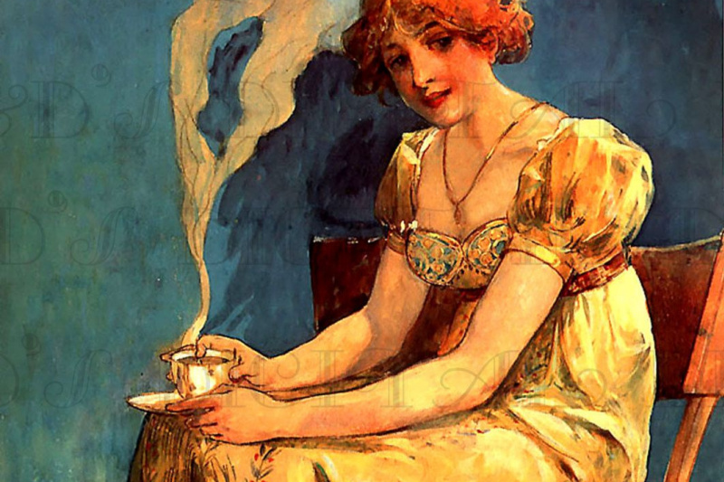 Alphonse Mucha. Girl with a Cup