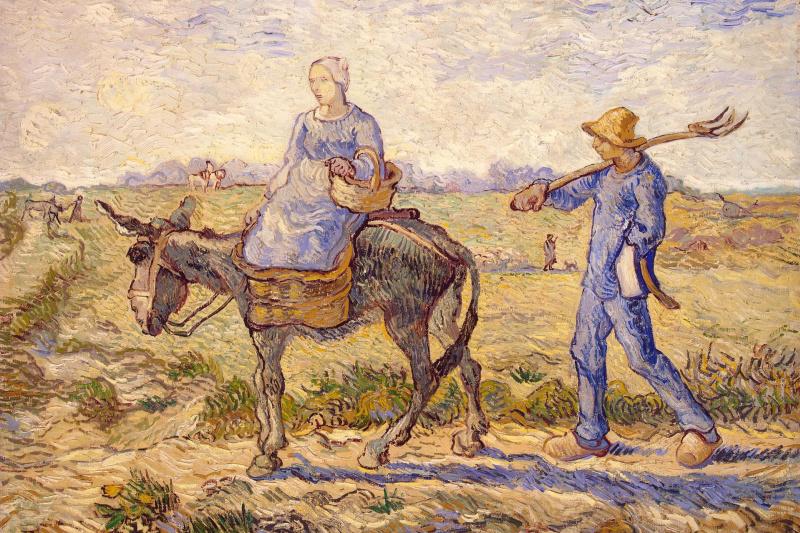 Vincent van Gogh. Morning. Administration (Imitation of Millais)