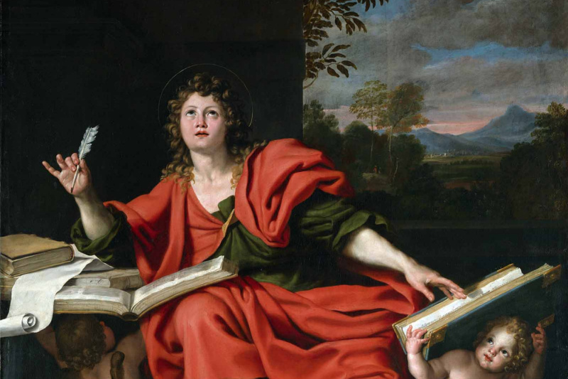 (1581-1641) Domenichino (Domenico Zampieri). John The Evangelist