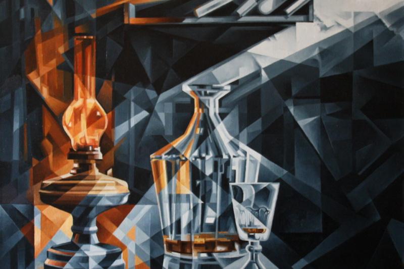 Vasily Krotkov. At the light. Post-kubofuturizm