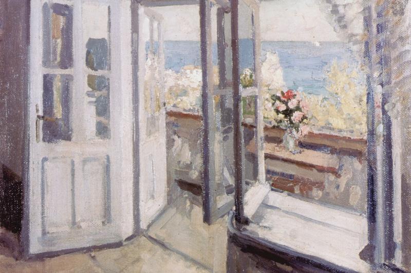 Konstantin Korovin. Balcony in the Crimea