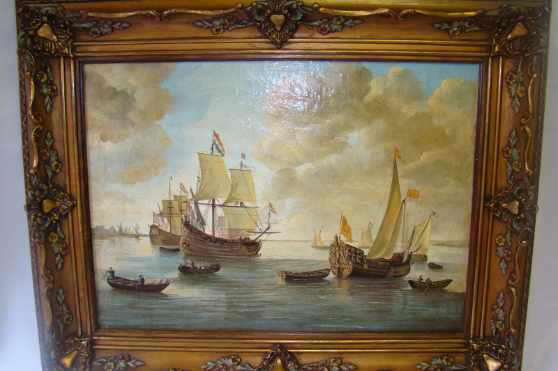 Unknown artist. Sailboats in the raid.