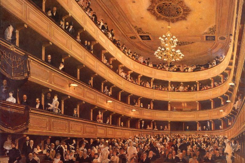 Gustav Klimt. The old Royal theatre
