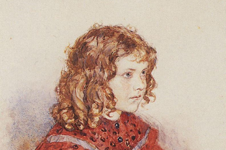 Vasily Ivanovich Surikov. Portrait of a girl in a red dress