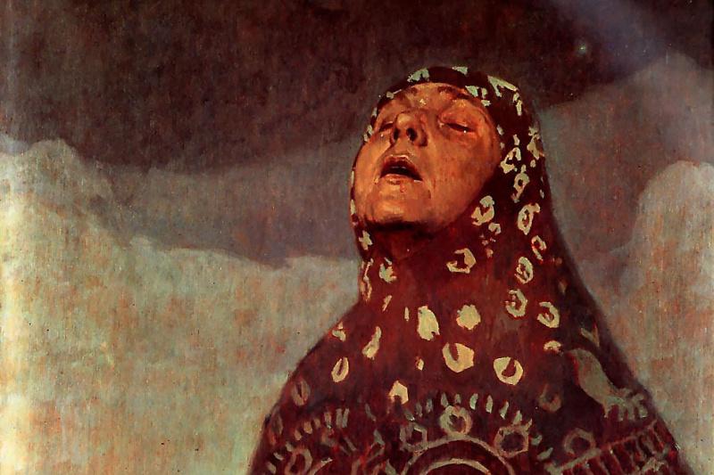 Alphonse Mucha. Winter night