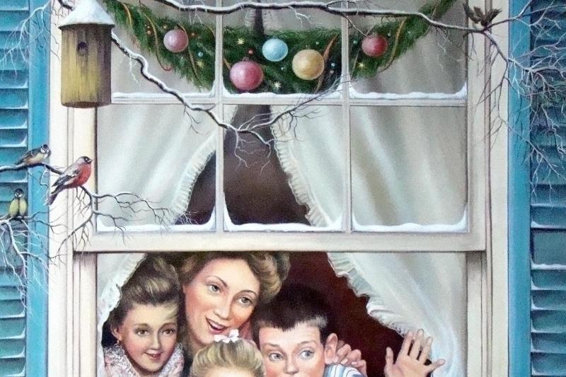 Lyudmila Ushakova. Christmas day. Free copy.
