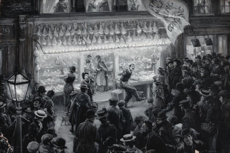 Arthur Rackham. Butcher shop
