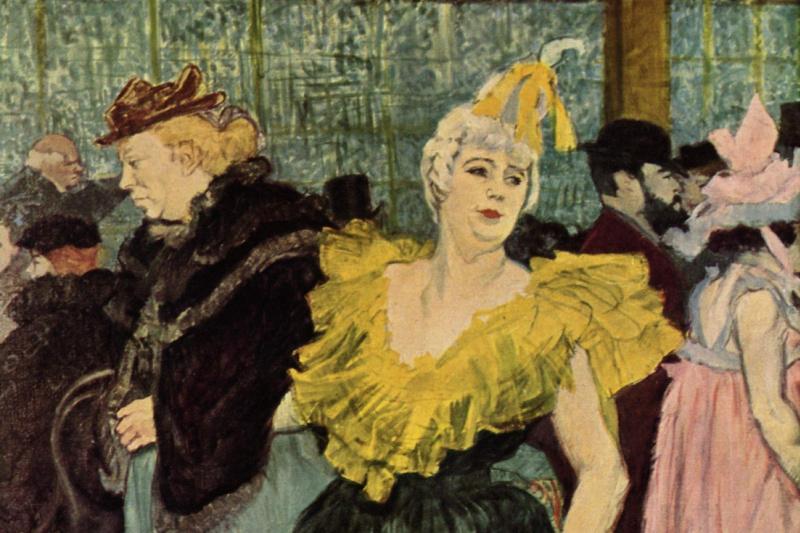 Henri de Toulouse-Lautrec. Clowness Sha-U-Kao in Moulin Rouge