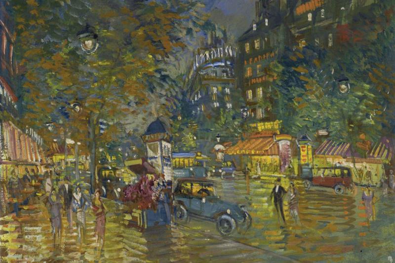 Konstantin Korovin. Evening in paris