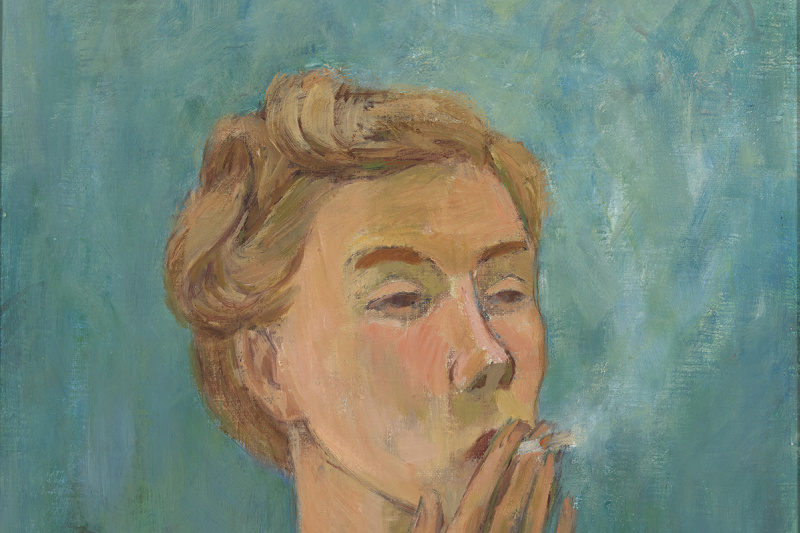 Tove Jansson. Smoking girl. Self portrait