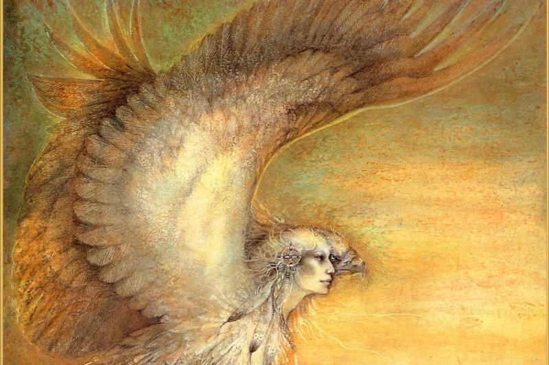 Susan Seddon Boulet. Shaman. Woman-eagle