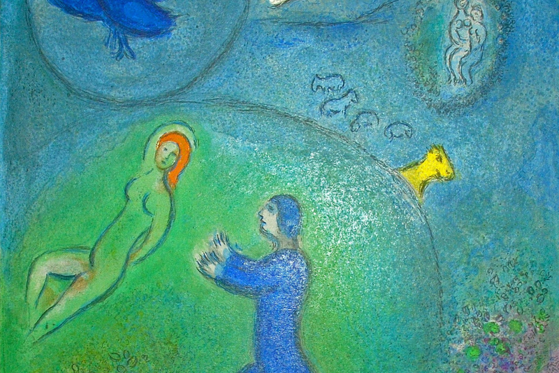 """Marc Chagall. Daphnis and License. From the series """"Daphnis and Chloe"""""""