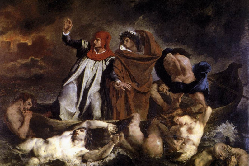 Eugene Delacroix. Dante and Virgil in Hell (Dante's Boat)