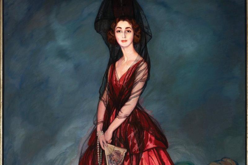 Ignacio Suloaga. Doña maría del Rosario de Silva and Gurtubay, the 17th Duchess of Alba