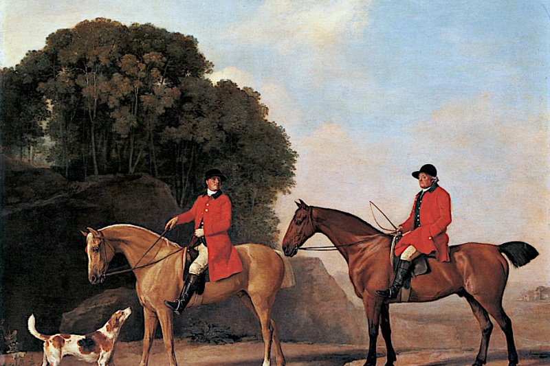 George Stubbs. Two gentlemen during the hunt