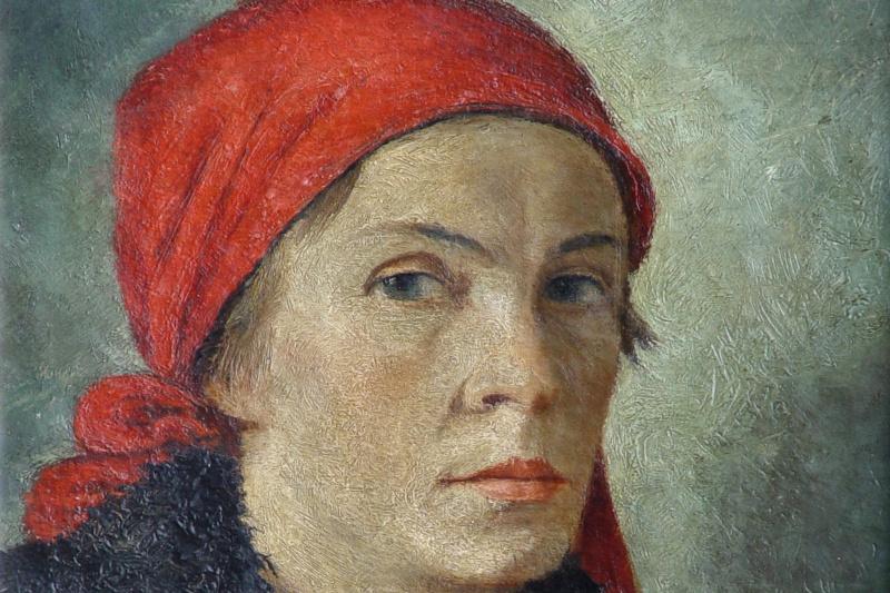 Georgiy Georgievich Ryazhsky. Portrait of a female printer