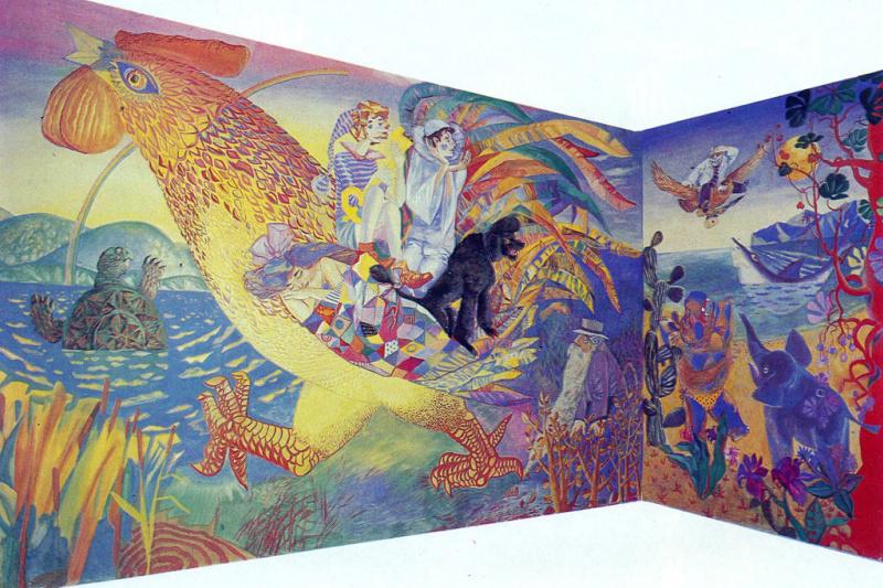 "Valentin Vasilyevich Demyanenko. ""Tales"", the mural kindergarten"