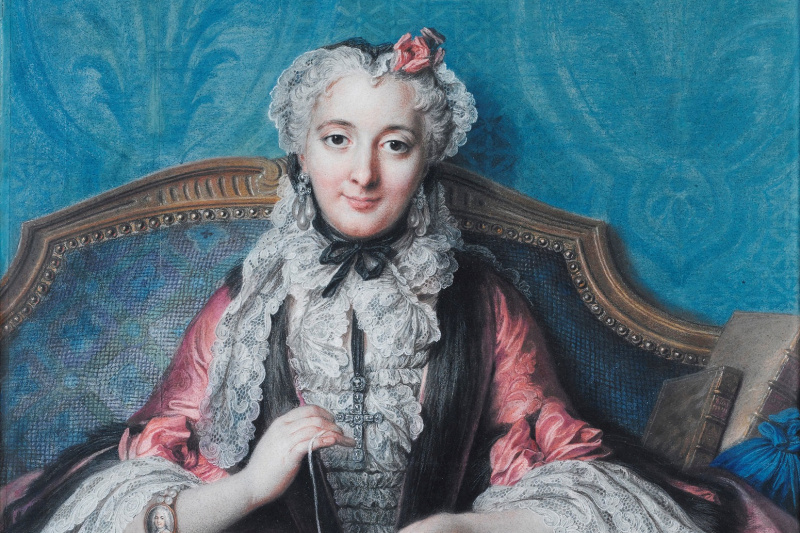 Charles-Antoine Coypel. Portrait of a Woman Sewing