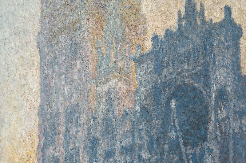 Claude Monet. The main entrance to Rouen Cathedral (morning effect)