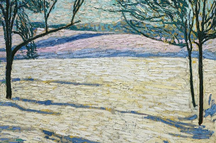 Cuno Amiè. Winter landscape
