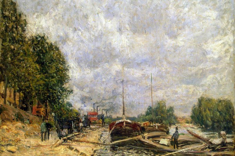 Alfred Sisley. Barge in Biancone