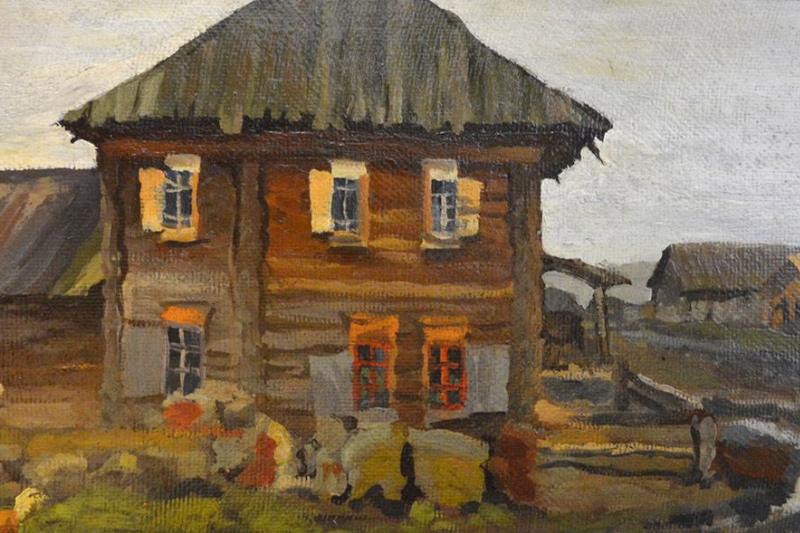 Ivan Kirillovich Slyusarev. After the rain