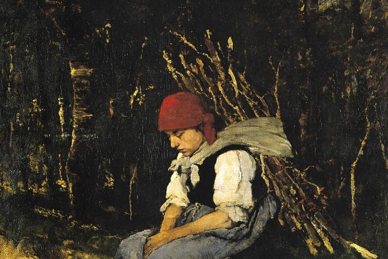 Mihály Munkácsy. Woman carrying firewood