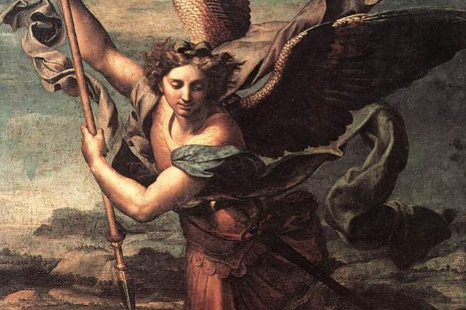 Raphael Sanzio. The Holy Archangel Michael and the Devil
