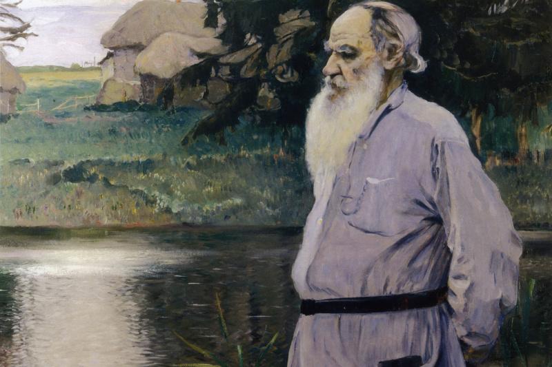 Михаил Васильевич Нестеров. Портрет Льва Николаевича Толстого