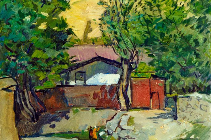 Robert Petracovich Avagyan. Sukok. Village street.