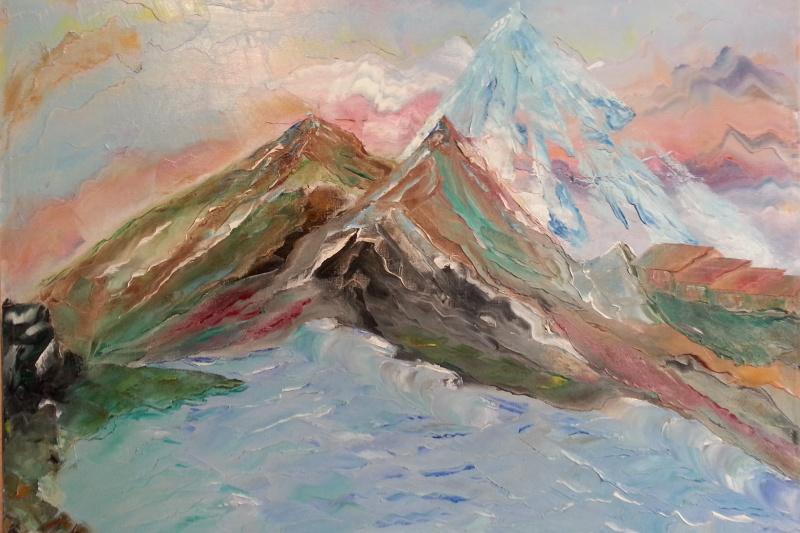 Valiantsin. The mountains.