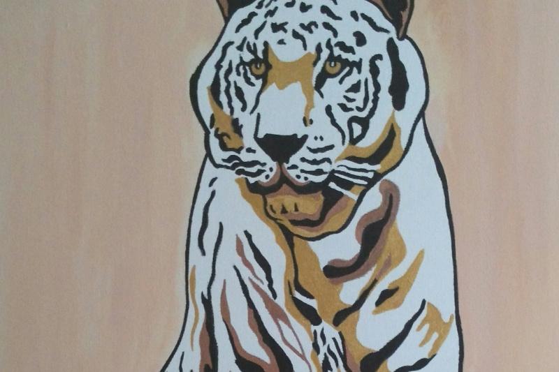 Olga Nadtochaeva. White tiger