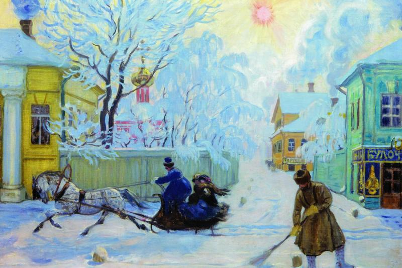 Boris Mikhailovich Kustodiev. Cold day