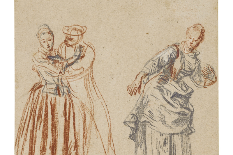 Antoine Watteau. Scene from the Commedia Dell'arte