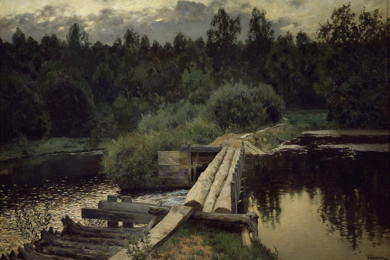 Isaac Levitan. At a whirlpool