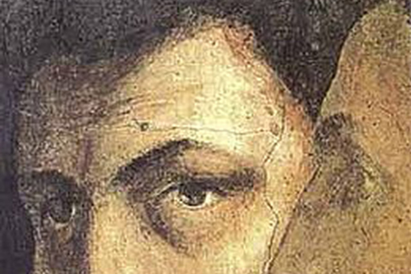 Tommaso Masaccio. Saint Peter in the pulpit. Fragment. Self Portrait Masaccio