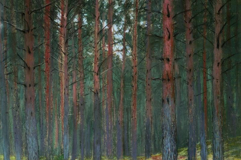 Isaac Levitan. Landscape with ferns (In Bohr. Autumn)