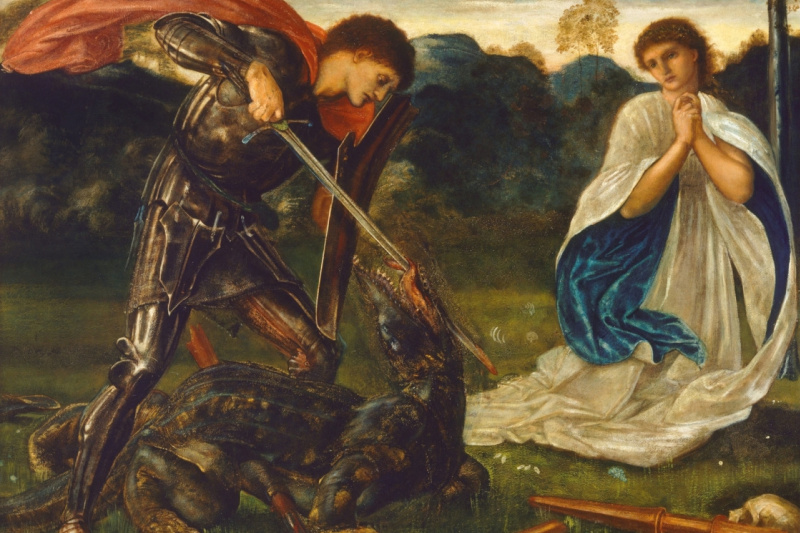 Edward Coley Burne-Jones. St. George and the Dragon