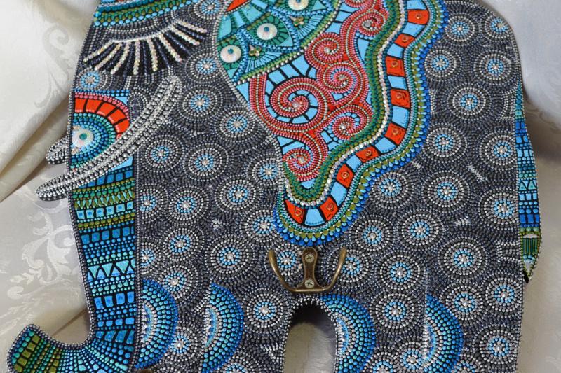 "Kiseleva Yu.N.. Key hanger ""Elephant"""