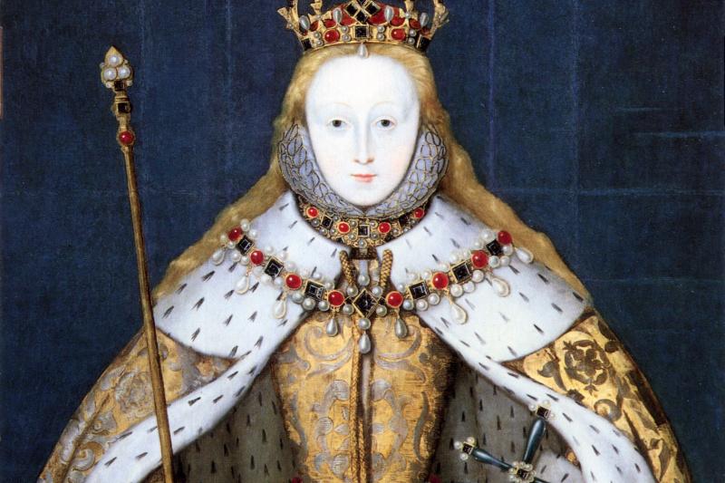 Шедевры  неизвестных художников. Королева Елизавета I